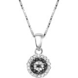 pendentif serti de diamants noirs